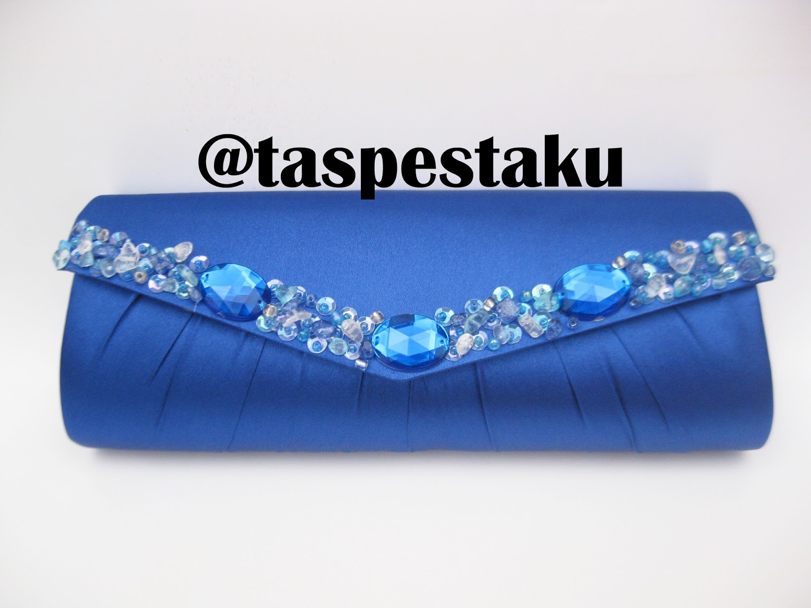 Handmade Clutch Bag Lucu Unik Biru ELektrik. TAS PESTA - CLUTCH BAG ... d154b86dd8