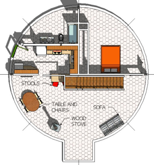 Basic Dome Home S Interior Plans: Beautiful Earth Homes And Monolithic Dome House Designs