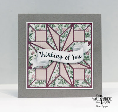 Our Daily Bread Designs Stamp/Die Duos: Wavy Words, Custom Dies: Star Quilt, Paper Collection: Romantic Roses