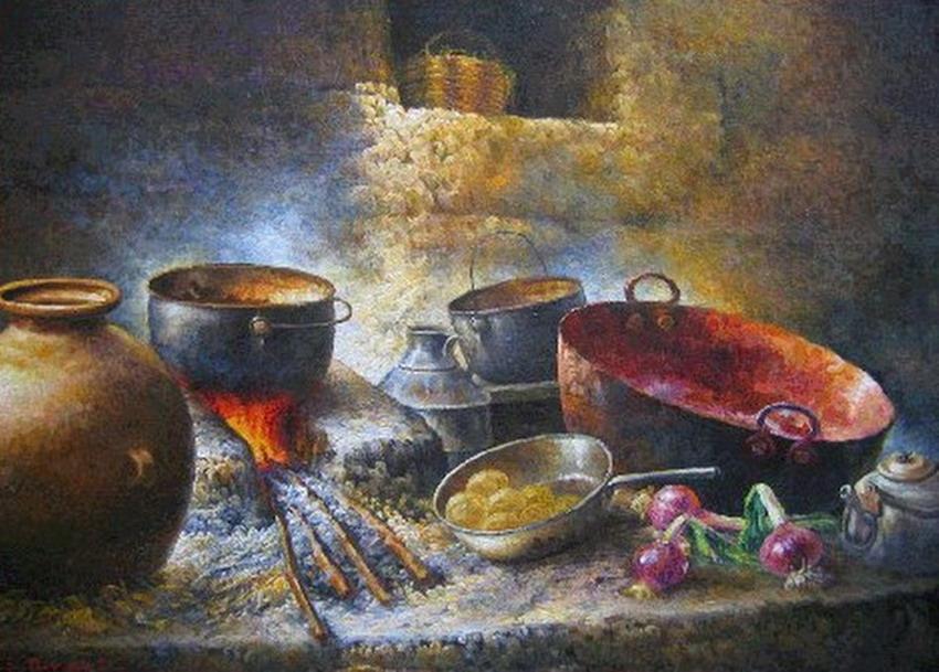 Cuadros modernos pinturas y dibujos estufas y hornillas for Pintura naranja para cocina