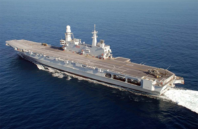 Top 10 largest aircraft carriers in the world - Nuova portaerei italiana trieste ...