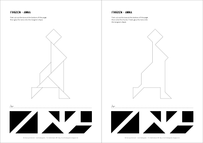 Tangram Worksheets: Frozen -> Anna