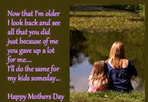 Short and best famous mothers day quotes images from daughter and son for mom