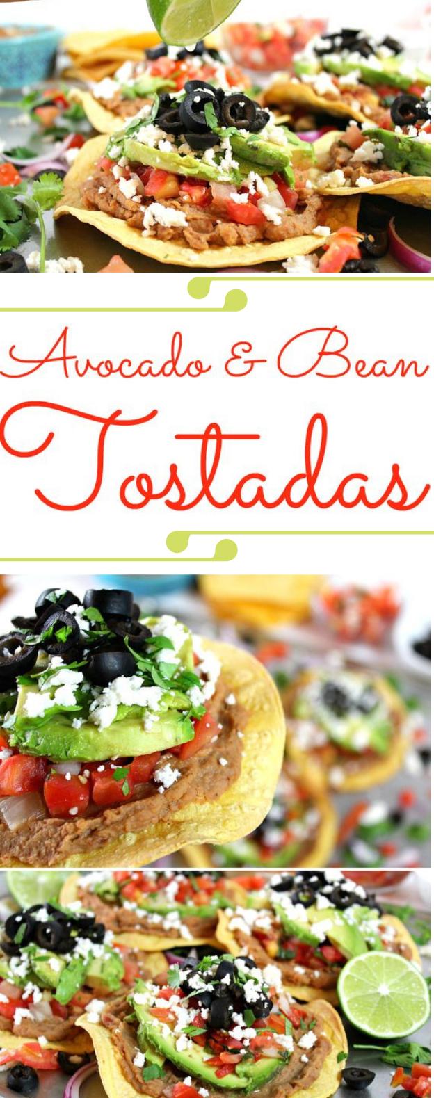 Easy Vegetarian Tostadas #vegetarian #tostadas