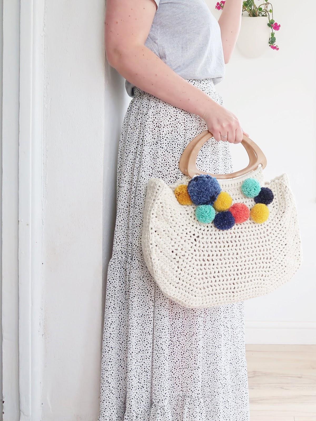 Cotton Basket Bag - Free Crochet Pattern
