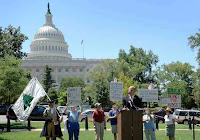 Tea party rally on Capitol Hill draws thin crowd