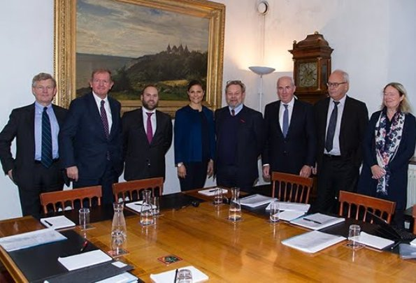 Crown Princess Victoria wears L.K Bennett coat in blue, By Timo, Seraphine, dress, By Malene Birger style