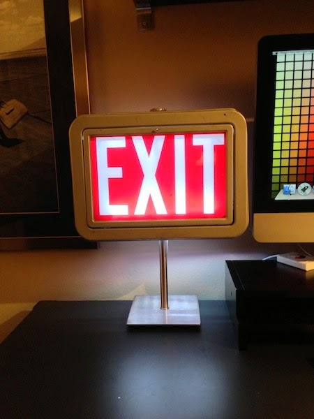 Antique Exit Sign Lamp ~ Get Home Decorating