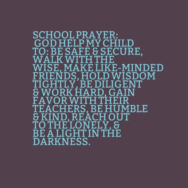Stephs Tidbits School Prayer