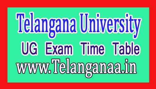 Telangana University TU UG Advanced Supply Time Table 2018