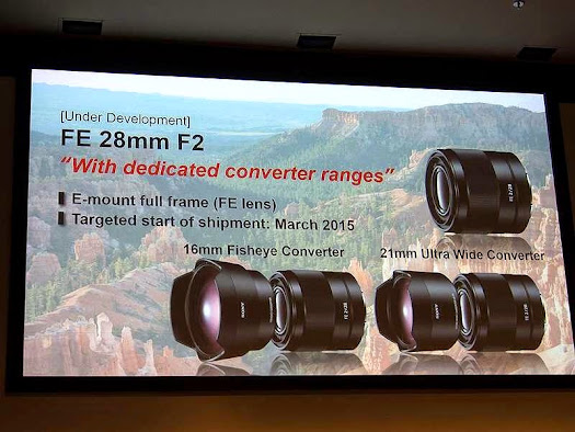 sony e-mount lens roadmap photokina 2014 september