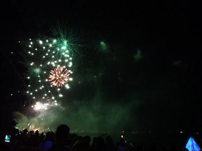 Vuurwerk op Ko Lipe, oud-op-nieuw 2017