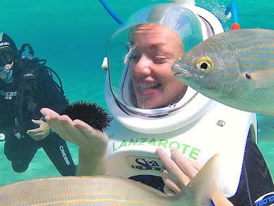 sea trekker holds sea urchin