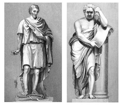 Monuments to John Howard (left) and Dr Samuel Johnson (right)   in St Paul's Cathedral from The Monuments and Genii   of St Paul's Cathedral and of Westminster Abbey by GL Smyth (1826)