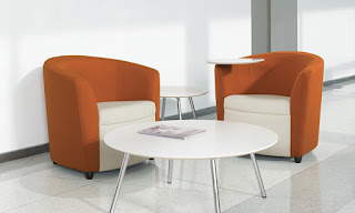 Sirena Lobby Lounge Chairs and Wind Table