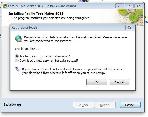 Genealogy\u0027s Star Trouble loading Family Tree Maker 2012