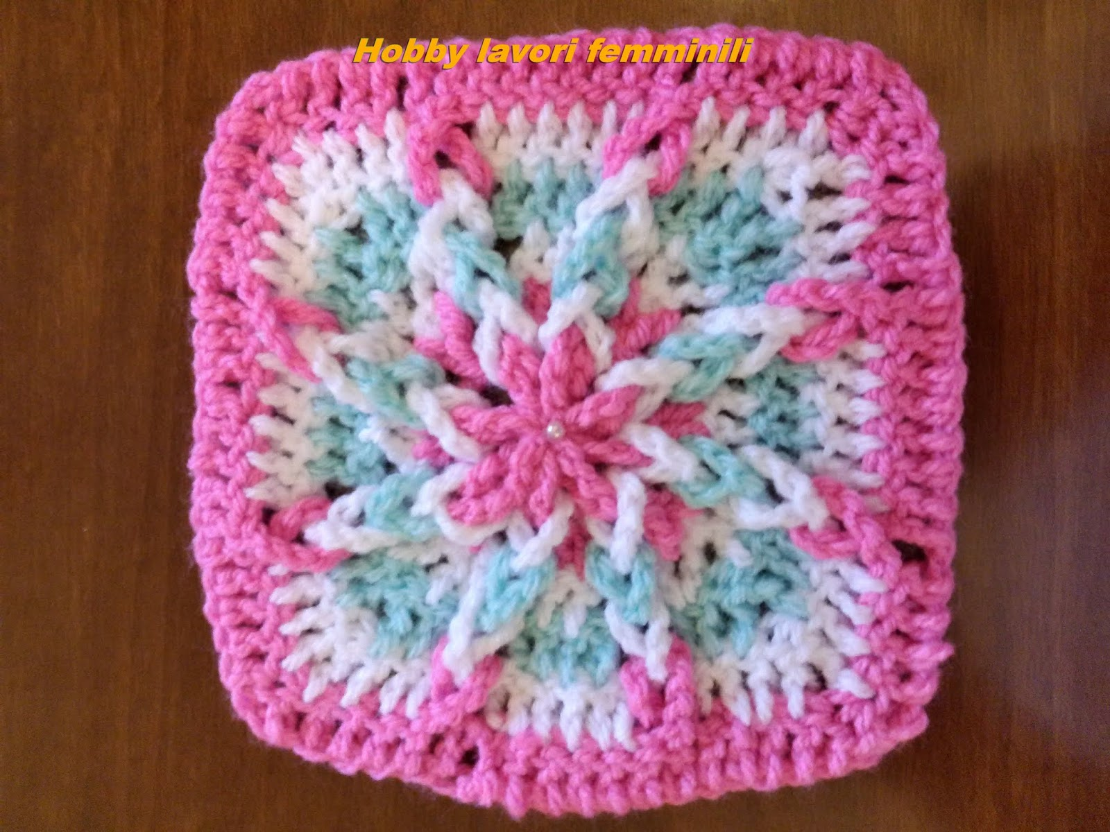 Hobby lavori femminili ricamo uncinetto maglia piastrella