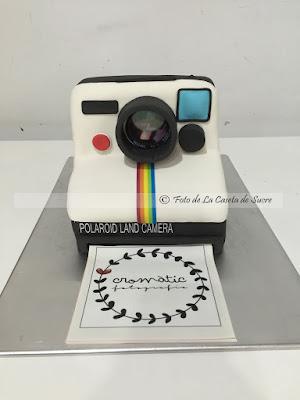 tarta camara polaroid