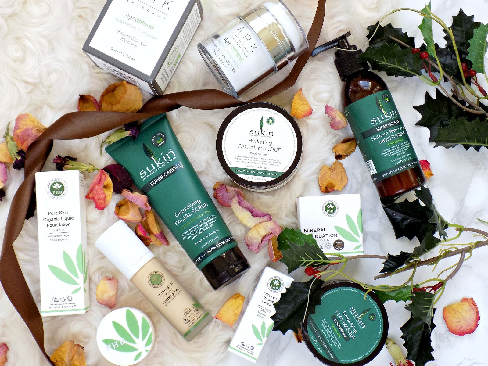 Vegan friendly beauty brands: Sukin, Ark, PHB Ethical Beauty