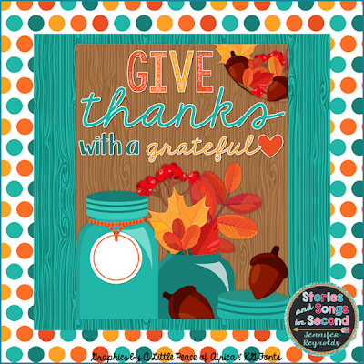 Celebrate seven years of blogging and creating for TpT with a Thanksgiving resource sale!