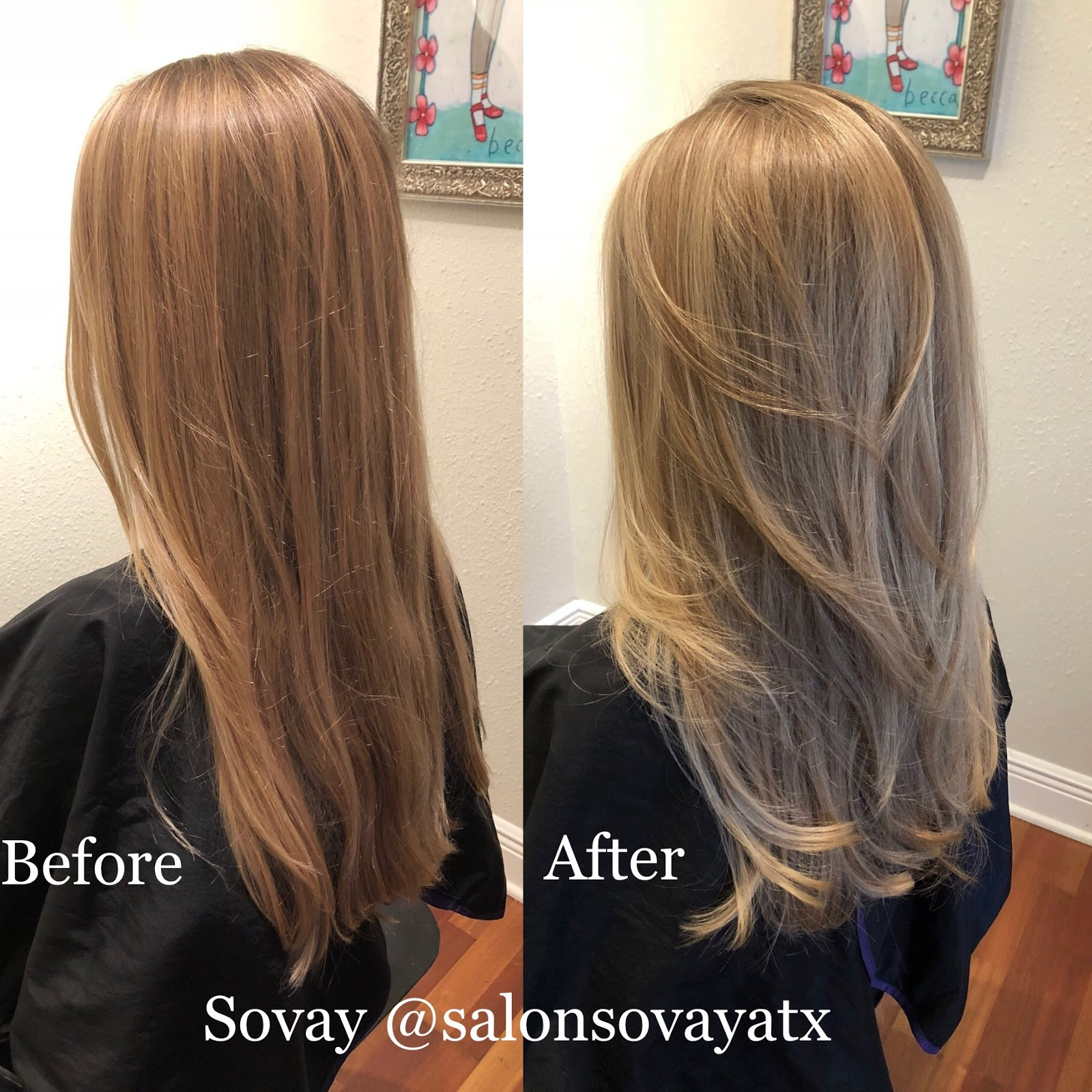 Highlights And Long Layered Haircut In Austin With Stylist Sovay