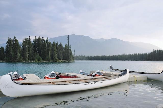 Clipper Boat at the Fairmont Jasper Park Lodge, Jasper National Park, Alberta, Canada