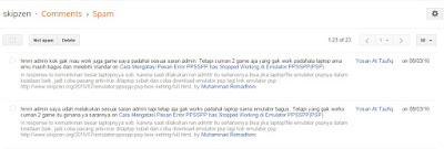 Mencegah Komentar Spam Dengan Cara Simple #Comments