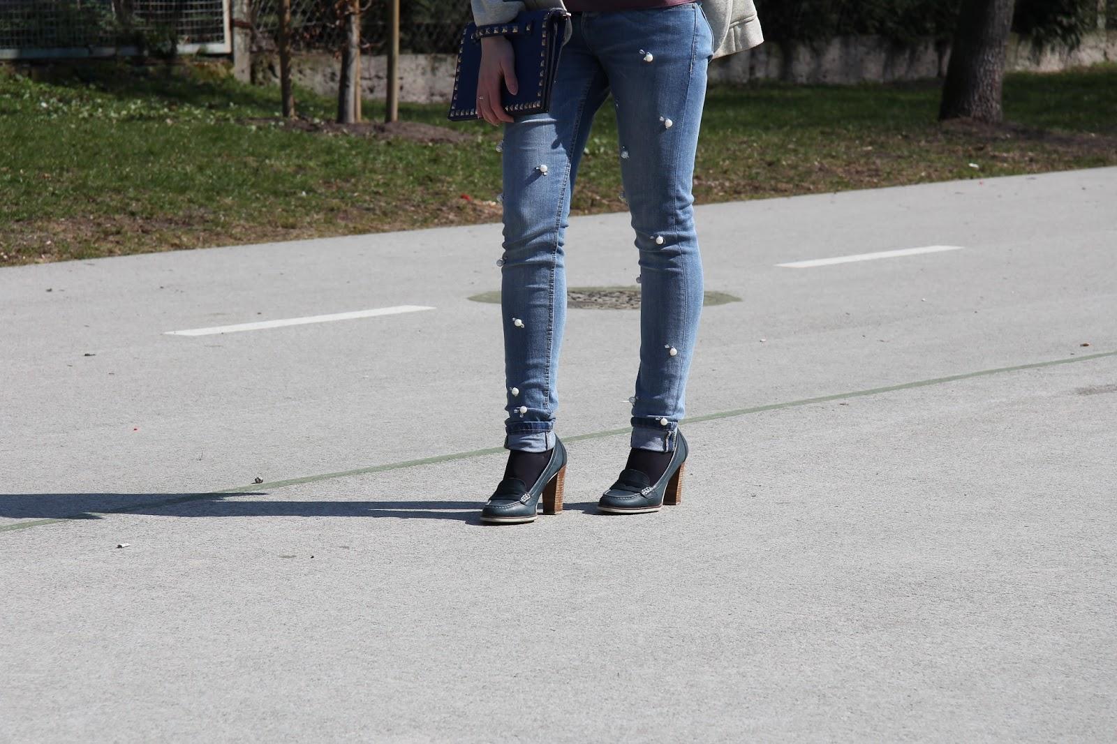 diy embellised jeans