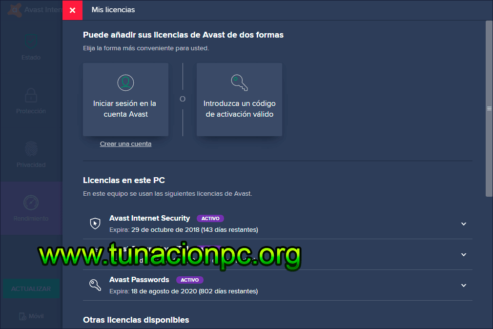 Avast Internet Security con Licencias Gratis