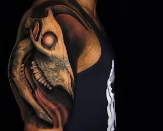 the rock bull tattoo