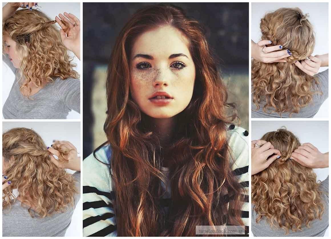 Brillante Peinados Sencillos Pelo Rizado Ideas De Moda