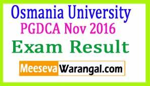 Osmania University PGDCA Nov 2016 Exam Results