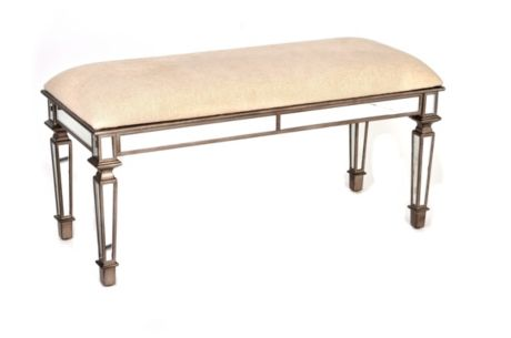 Copy Cat Chic Horchow Denison Mirrored Bench