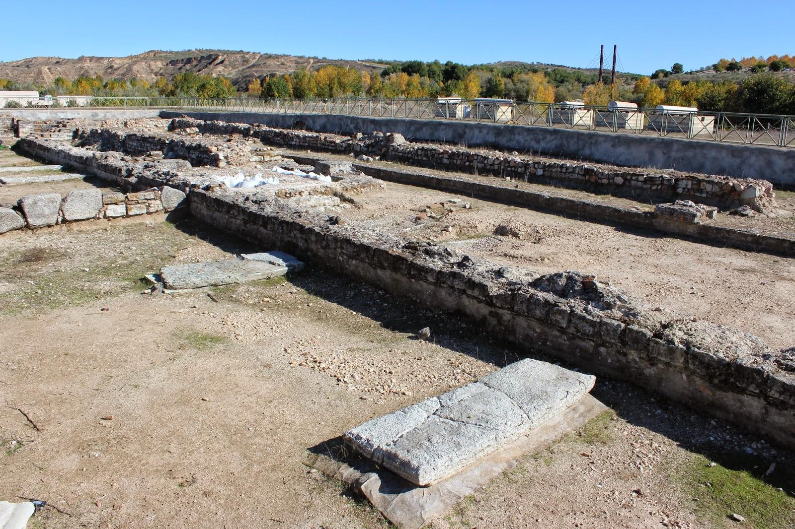 Sarcófagos, necrópolis, yacimiento romano Carranque, Villa Materno