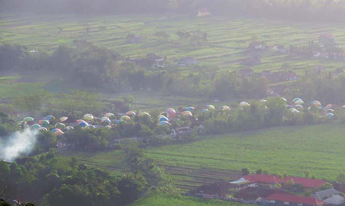 Desa Wisata Dome dari Bukit Klumprit