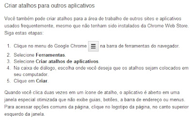 Criar atalhos para aplicativos - Ajuda do Google Chrome