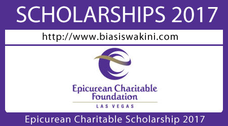 Epicurean Charitable Scholarship 2017