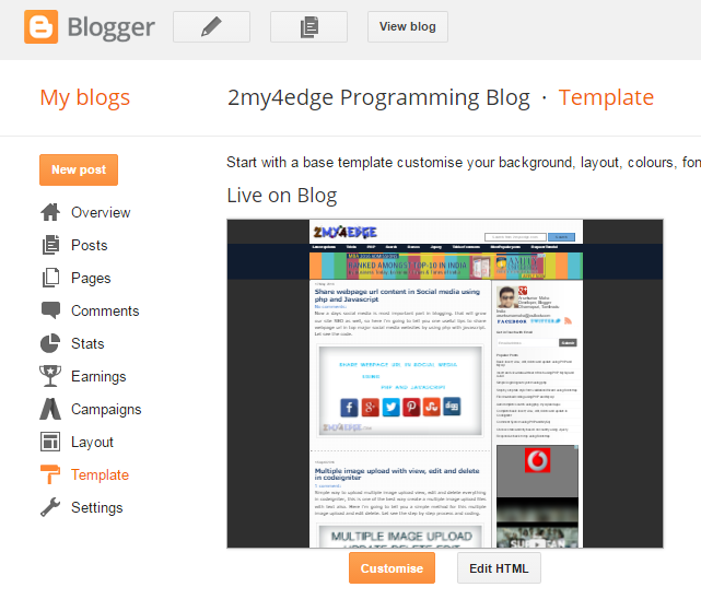 Change Blogger title tag as SEO friendly title tag