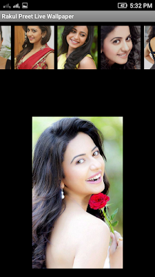 Rakul Preet 3D live Wallpaper For Android Mobile Phone
