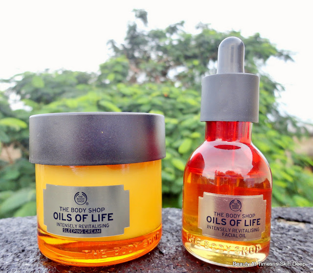 The Body Shop Oils of Life Sleeping Cream facial oil