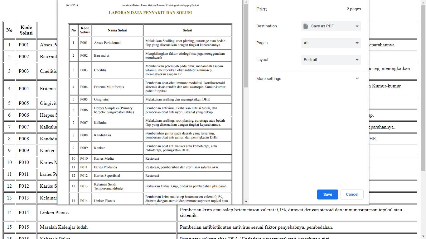 Aplikasi Sistem Pakar Berbasis Web Menggunakan Metode Forward Chaining - SourceCodeKu.com