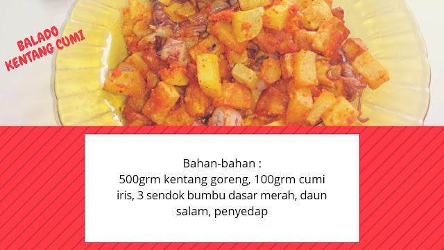 Resep balado kentang