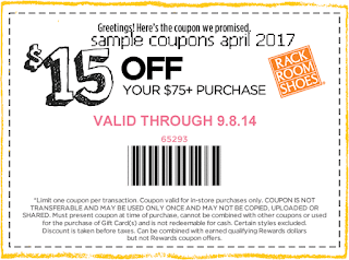 Rack Room Shoes coupons april 2017