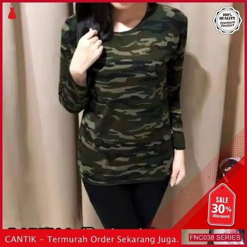 FNC038B38 Baju murah Army Loreng Lengan Wanita Panjang Long Serba 30 Ribuan