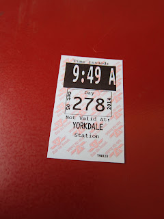Transfer slip from the TTC's Yorkdale subway station