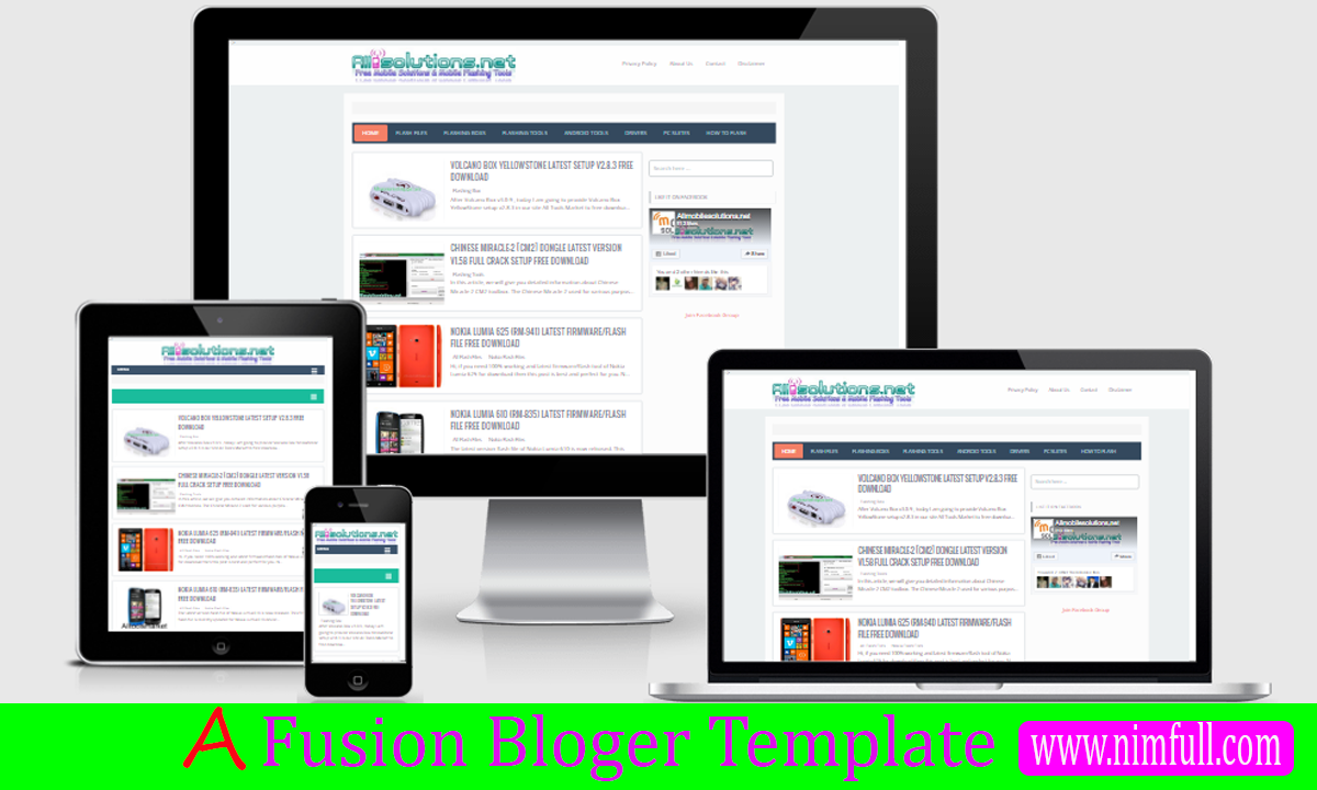 Free Download A Fusion Responsive SEO Blogger Templates - Nimfull ...