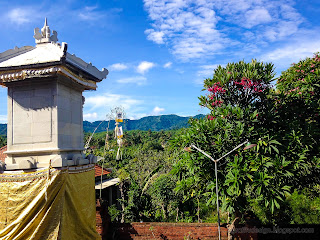 Garden Atmosphere And Natural Scenery In The Middle Of Balinese Hindu Temple At Ringdikit Village, North Bali, Indonesia