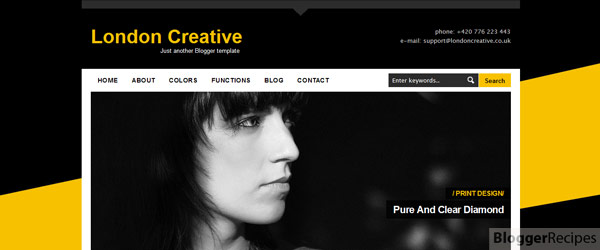 London Creative Blogger Template