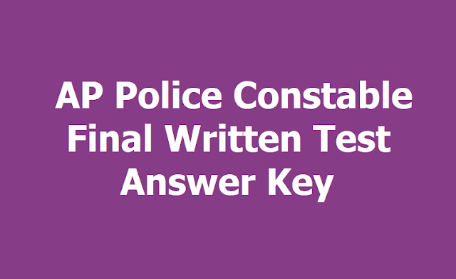 AP Police Constable Final Written Test Answer Key 2019, Raise your Objections