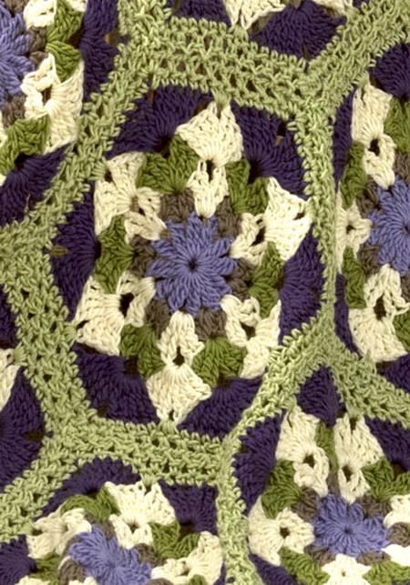 Crochet Throw - Hexagon Crochet Motif - hekle teppe